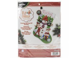 Bucilla 86550 Elf On The Shelf Stocking Felt Applique Kit - 18 in. Long