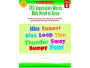 Scholastic 240 Vocabulary Words Kids Need To Know, Grade 1