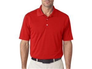 adidas A161 Mens ClimaLite Textured Polo - University Red, Large