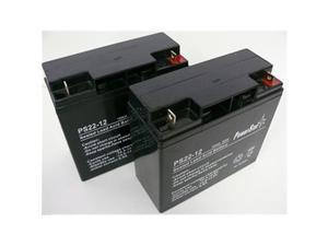 PowerStar PS12-22-2Pack1 12V 22Ah UPS Battery Replaces 20Ah Kung Long WP20-12, Pack - 2