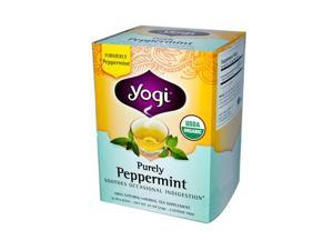 Yogi 671776 Yogi Tea Purely Peppermint - Caffeine Free - 16 Tea Bags