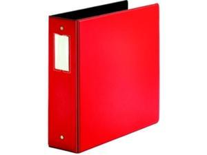 "D-Ring Binder 3"" Capacity 11""x8-1/2"" Red"