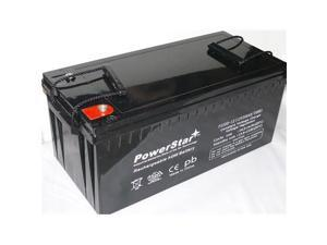 PowerStar PS200-12-8 12v 200ah Solar Power Battery, Deep Cycle, 2 Year Warranty, 4D Size