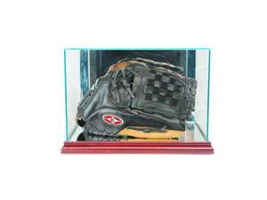 Perfect Cases BSBGLR-C Rectangle Baseball Glove Display Case, Cherry