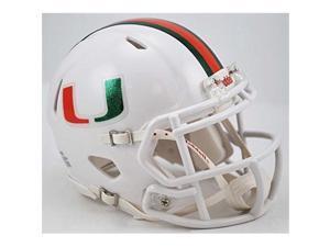 Miami Hurricanes Speed Mini Helmet - Metallic Decals