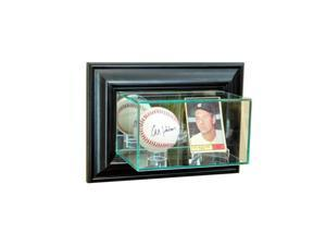 Perfect Cases WMCRDSB-B Wall Mounted Card and Baseball Display Case, Black