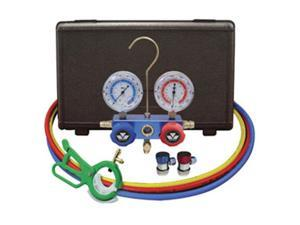 Mastercool 89661PRO Automotive R-134A Manifold Gauge Set With Free 3-In-1Can Tap Valve