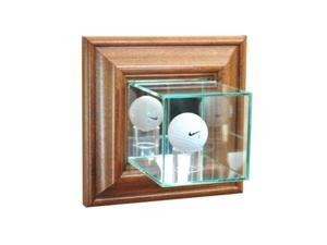Perfect Cases WMGLF-W Wall Mounted Golf Display Case, Walnut