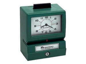 Acroprint Time Recorder 011070400 Model 125 Analog Manual Print Time Clock with Date-0-12 Hours-Minutes