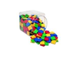 Learning Resources Plastic Mosaic Tile - Assorted Color, Pack 400