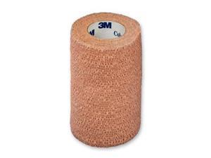 3M 1584S 4 in. x 5 yard Coban Self-Adherent Wraps, Latex, Sterile, Tan, 18 Rolls Per Case