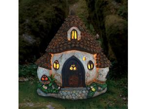 Exhart 30342 11 in. Solar Pinecone Cottage
