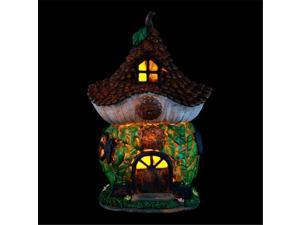Exhart 30344 12 in. Solar Pinecone Cottage