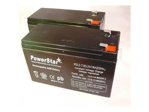 PowerStar PS12-7-2Pack11 12V 7Ah Sealed Lead Acid Battery - T1 Terminals - For Zb-12-7, 2 Pack