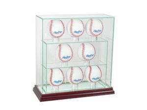 Perfect Cases 8UPBSB-C 8 Upright Glass Display Case, Cherry