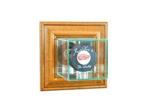 Perfect Cases WMPUC-W Wall Mounted Single Puck Display Case, Walnut