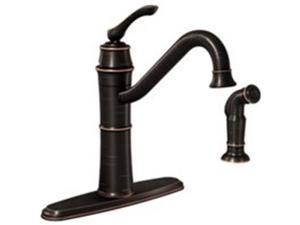 Moen 6486146 Single Handle High Arc Faucet, Bronze