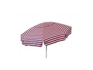 Heininger Holdings 1426 Euro 6 ft. Umbrella Tri Color Stripe Red, White & Blue - Patio Pole