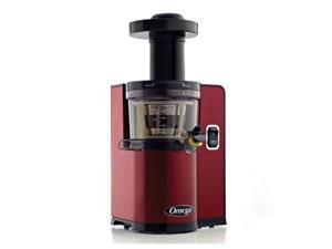 Omega OMVSJ843QR Vertical Slow Juicer, Red