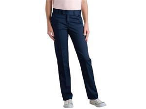 Dickies KP7719DN 0 Girls Junior Stretch Slim Straight Pant, Dark Navy 0