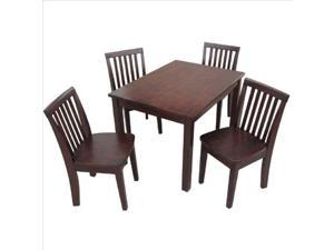 Intenational Concepts K15-2532-263-4 Set of 5 pcs - 2532 Table with 4 mission juvenile chairs, Rich Mocha