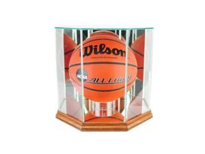 Perfect Cases BBO-W Octagon Basketball Display Case, Walnut