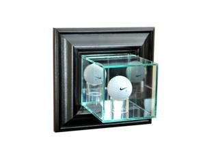 Perfect Cases WMGLF-B Wall Mounted Golf Display Case, Black