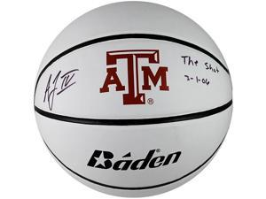 TRISTAR Acie Law Autographed Texas A&M Logo Full Size Basketball Inscribed ''The Shot 3/10/06''