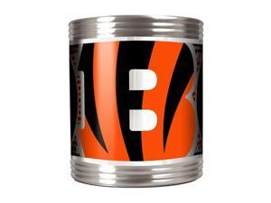 Great American Products 73518 Cincinnati Bengals Stainless Steel Can Holder with Metallic Graphics