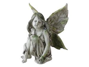 Exhart 30061 11 in. Sitting Fairy Statue