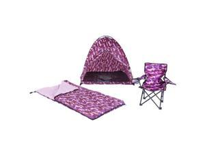 Pacific Play Tents 23333 Pink Camo Set – Tent, Chair & Sleeping Bag