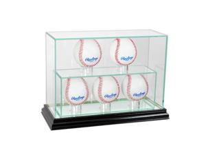 Perfect Cases 5UPBSB-B 5 Upright Baseball Display Case, Black