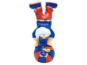 Kansas Jayhawks Garden Gnome - Handstand On Basketball