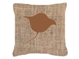 Stingray Burlap and Brown   Canvas Fabric Decorative Pillow BB1094