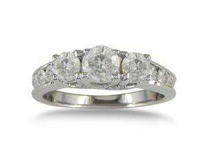 SuperJeweler 10K 1 Ct. Diamond Plus Engagement Ring - White Gold