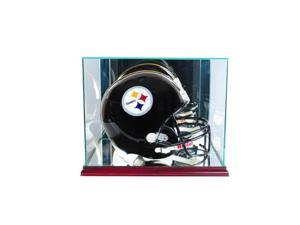 Perfect Cases FBHR-C Rectangle Football Helmet Display Case, Cherry