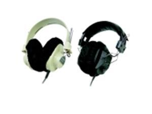 Califone 2924 Disposable Cloth Earpad Coves - Black, Pack 24
