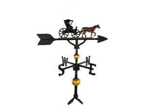 Montague Metal Products WV-373-NC 300 Series 32 In. Deluxe Color Country Dr. Weathervane