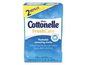 Kimberly Clark Consumer 35970 Fresh Care Flushable Cleansing Cloths - White
