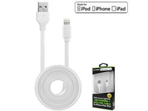 Cellet DAAPP5TFWT 4 ft. Lightning 8 Pin Flat Wire Charging Data Sync Cable - White
