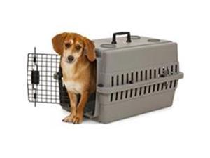 Petmate - Carriers 684676 Aspenpet Traditional Plastic Kennel - Gray, 24 in.