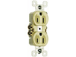 Pass & Seymour 3232IU 15A 125V Standard Duplex Outlet - Ivory, Pack of 150