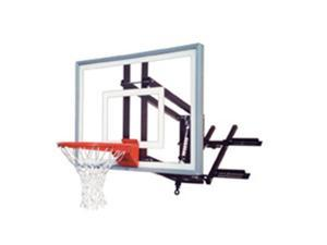 First Team RoofMaster III Steel-Acrylic Roof Mounted Adjustable Basketball System, Royal Blue