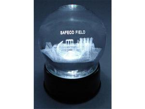 Sports Collectors Guild SafecoLES Safeco Field Etched In Crystal Globe With Lighted Musical Base