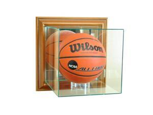 Perfect Cases WMBK-W Wall Mounted Basketball Display Case, Walnut