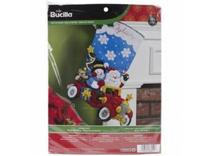 Bucilla 86451 Holiday Drive Stocking Felt Applique Kit-18 in. Long