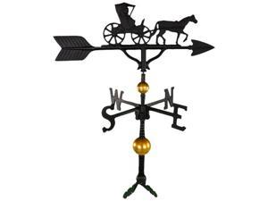 Montague Metal Products WV-373-SB 300 Series 32 In. Deluxe Black Country Dr. Weathervane