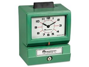 Acroprint Time Recorder 011070413 Model 125 Analog Manual Print Time Clock with Month-Date-0-23 Hours-Minutes