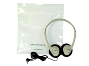 Califone Individual Storage Stereo Headphone With Resealable Storage Bag
