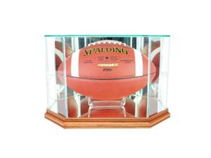 Perfect Cases FBO-W Octagon Football Display Case, Walnut
